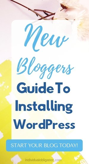 New bloggers guide to installing wordpress