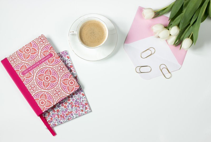 How To Choose A WordPress Theme Header Image Of Coffee Flowers Notebook Work Desk