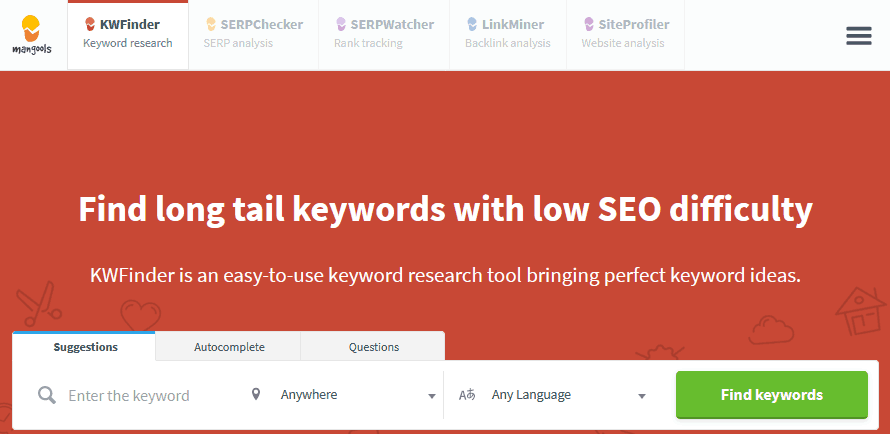 Before You Write Your First Blog Post Consider Researching Keywords Using The Kwfinder Tool