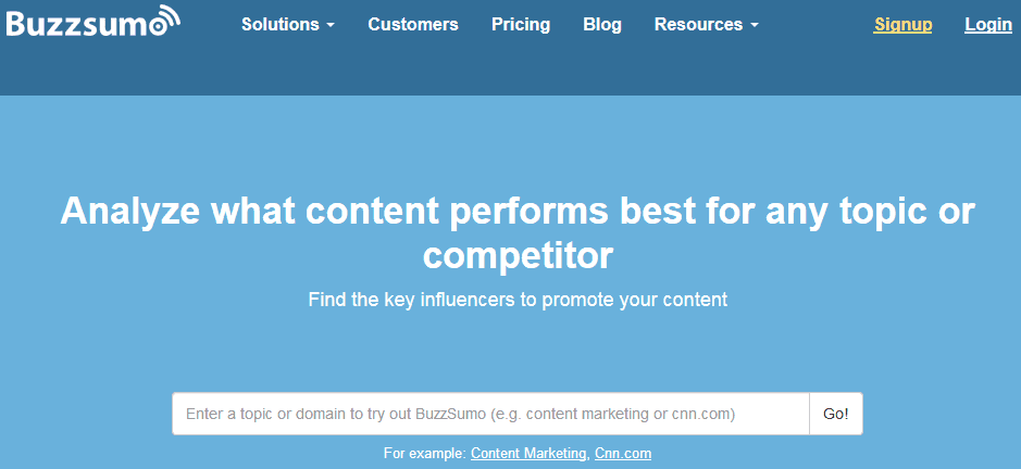 Before You Write Your First Blog Post Find Ideas Using Buzzsumo 2