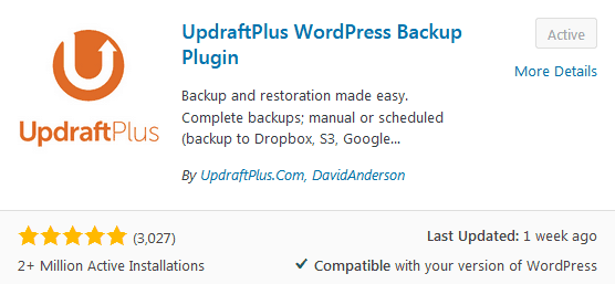 Before You Write Your First Blog Post Install A Backup WordPress Plugin Like Updraftplus