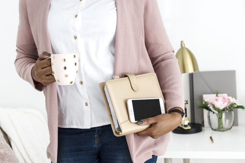 Free Places To Promote Your Blog Header Of Woman Carrying Folder Mobile And Mug