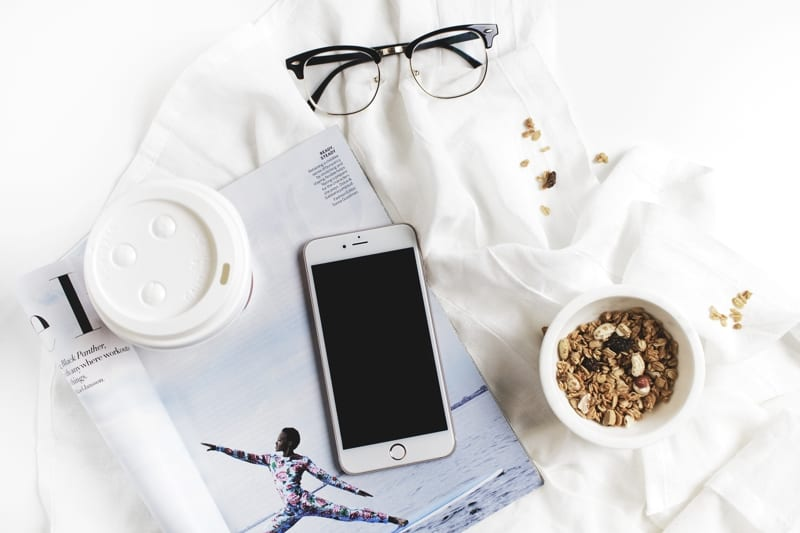 Free Places To Promote Your Blog Posts Header Image Of Mug Mobile Stationary And Glasses