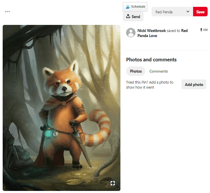Pinterest Rich Pins Example Of Pin Without Any Rich Pin Information