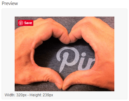 Preview Of The Pinterest Pin It Button Default Format