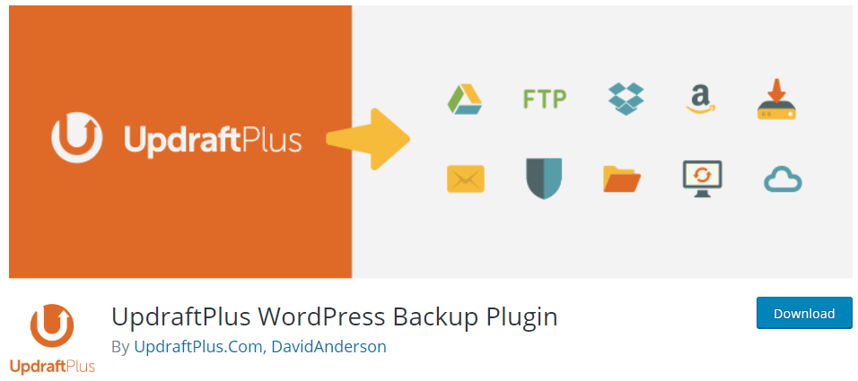 Frequently asked questions about WordPress (FAQ) - How to backup WordPress using the Updraftplus WordPress Backup Plugin