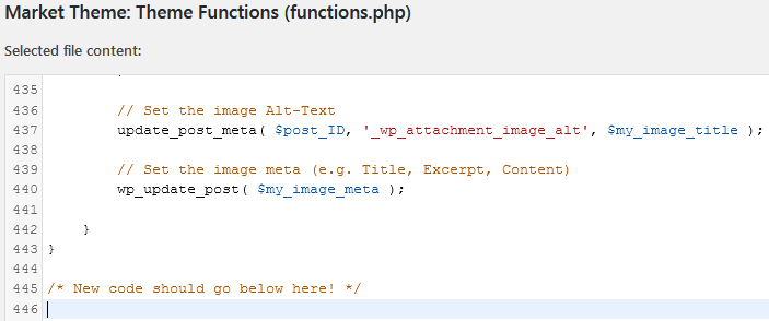 Where The Code Should Go When Pasting The Affiliate Disclosure Into The Functions.php File