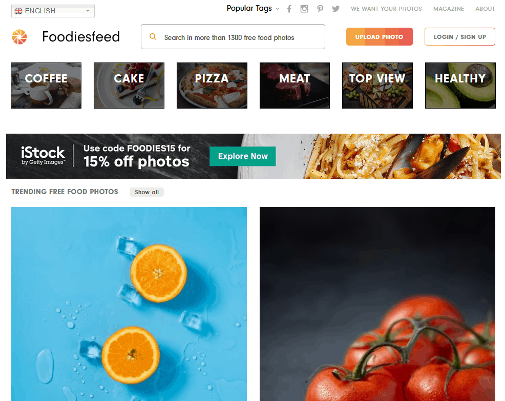Free Stock Images Source Using Foodiesfeed
