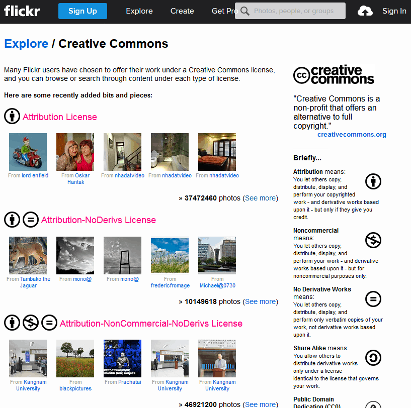 Free Stock Images Source Using The Flickr Creative Commons Page