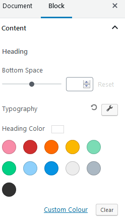 Ultimate Addons Table Of Contents Settings For Content Fonts Colors And Size