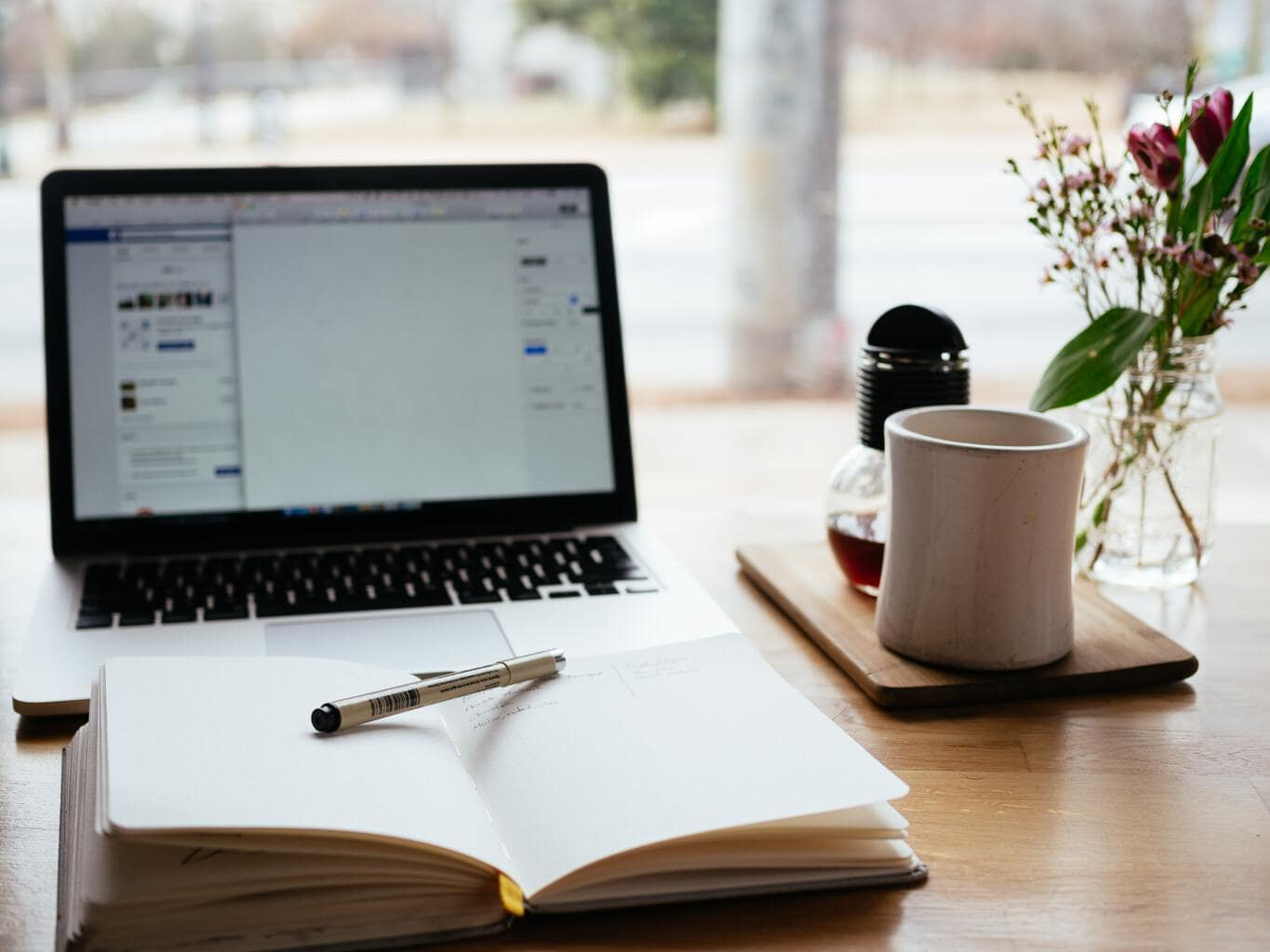 Missing Pinterest Image Options To Consider Header Image Of Desk With Laptop, Open Notebook & Pen