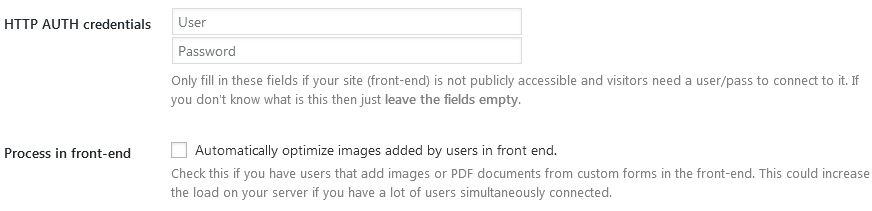 How To Use Shortpixel In WordPress Using The Advanced Settings For Http Auth And Processing Files Uploaded On The Front End