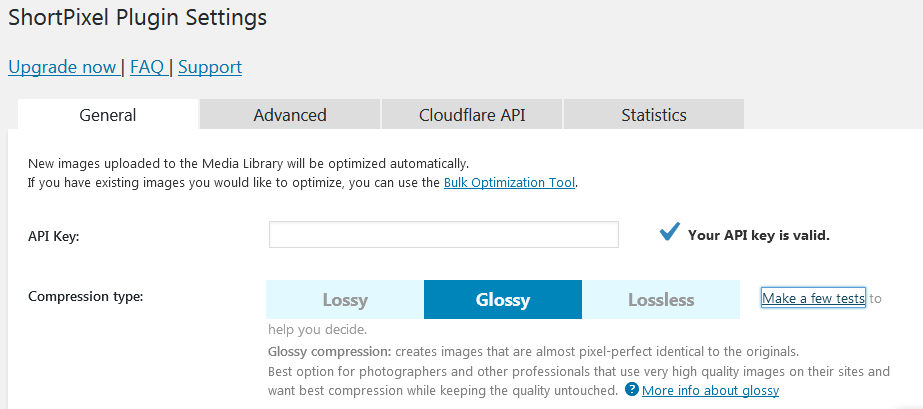 How To Use Shortpixel In WordPress Using The General Settings To Set Lossy Glossy Or Lossless