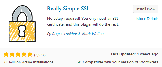 The Really Simple Ssl WordPress Plugin To Help Move From Http To Https In WordPress