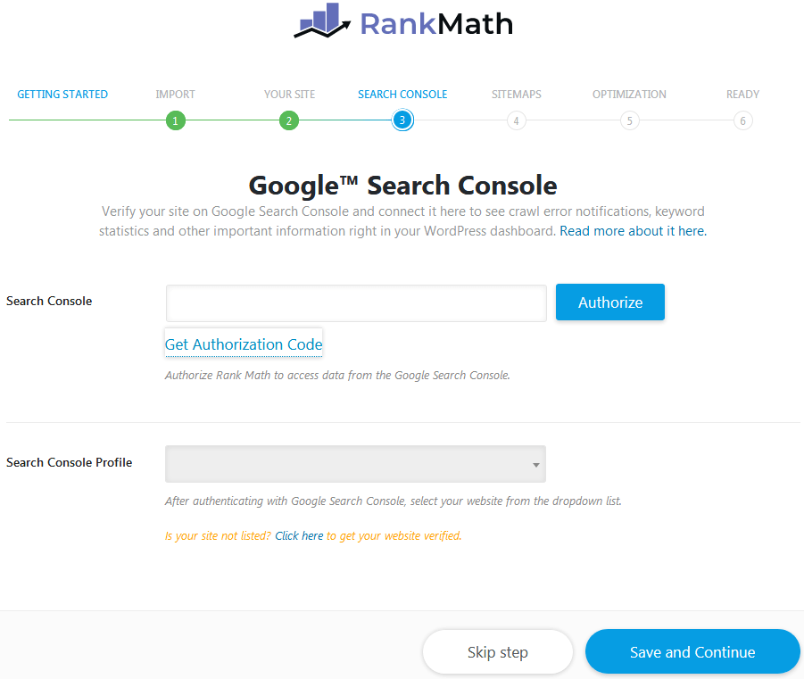 Connecting The Google Search Console To Rank Math