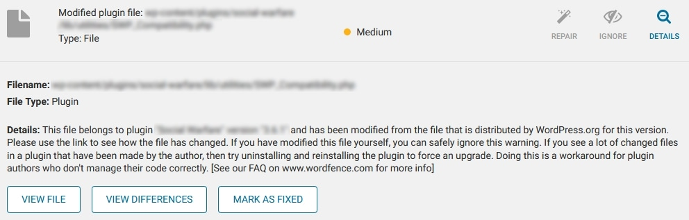 How To Fix A Hacked WordPress Site Using Wordfence With Expanded Information For Items In The Scan Results