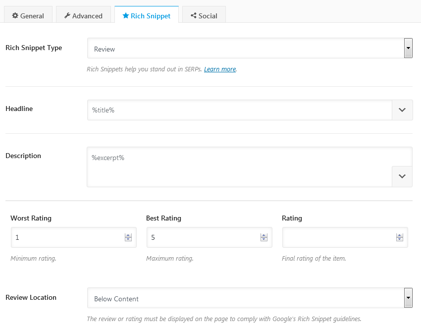 Rank Math Rich Snippet Customization For Review Content