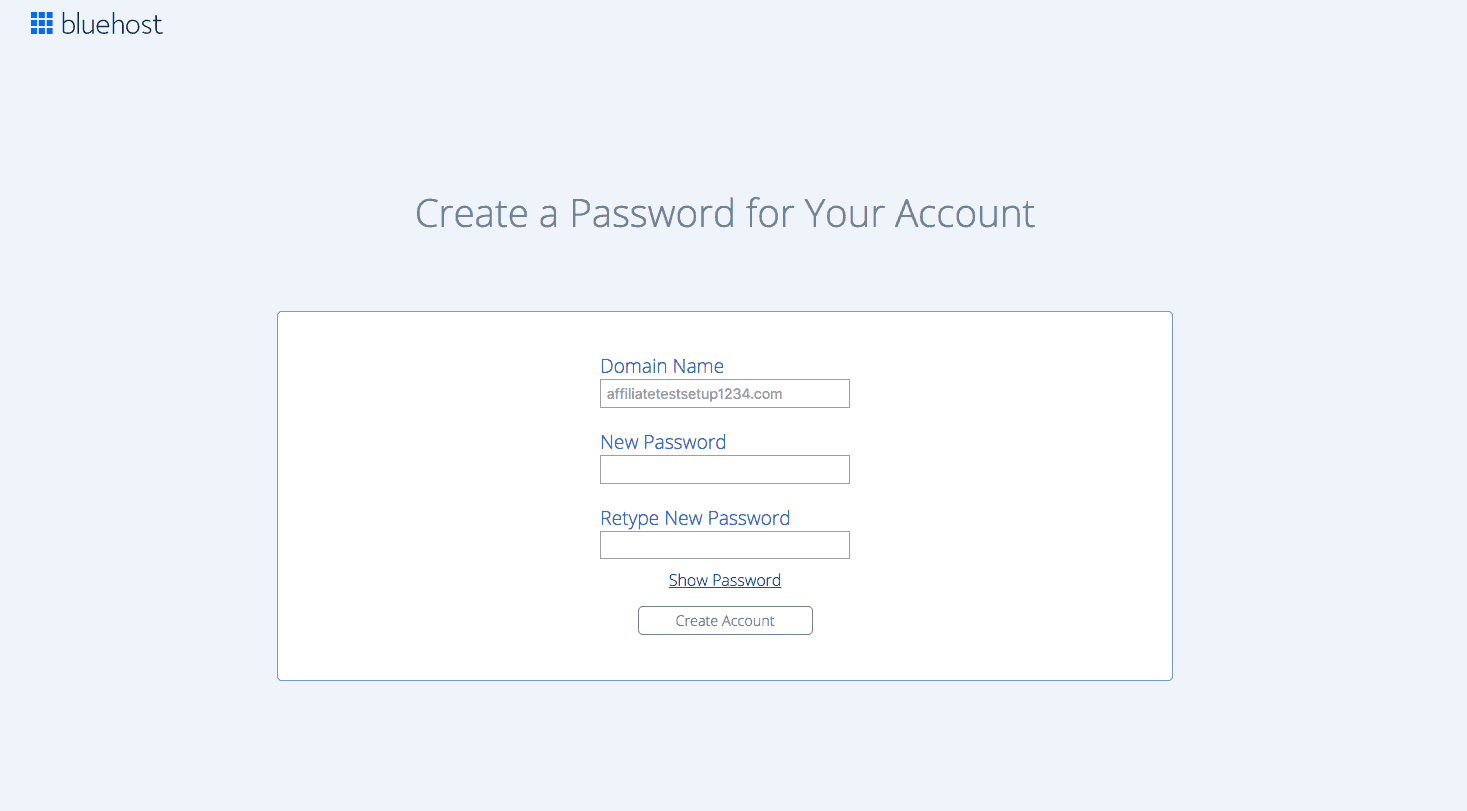 How To Start A WordPress Blog Using Bluehost 7 Create Password