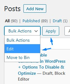 How To Use Bulk Actions To Edit And Apply Settings In WordPress