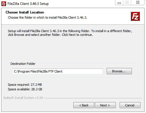 Wordpress Ftp Filezilla Default Installing Settings Location