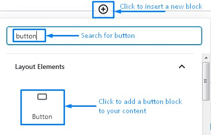 How To Add A Button Block In WordPress Gutenberg To Add Links