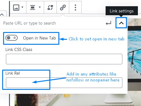 How To Customize The Image Block Link Settings In WordPress Gutenberg