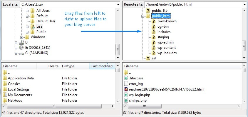 How To Upload Files Using WordPress Ftp Filezilla Software