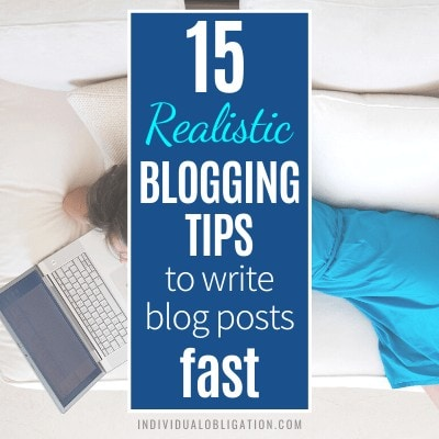 Blogging Tips To Write Blog Posts Fast For Bloggers B Featured