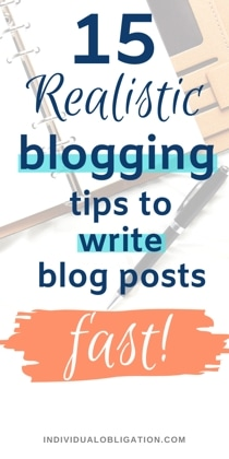 Blogging Tips To Write Blog Posts Fast For Bloggers