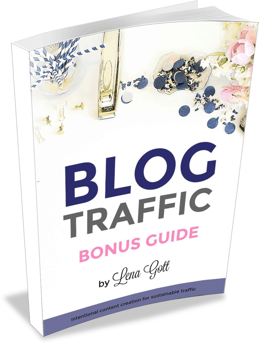 Blog Traffic Bonus Guide Transparent Cover
