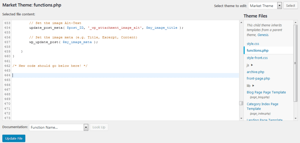 How To Edit Your Functions.php File To Fix Missing Pinterest Images Problem