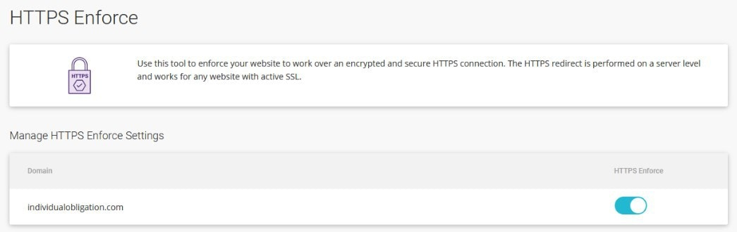 Siteground Hosting Dashboard Within Site Tools Enforce Https Setting