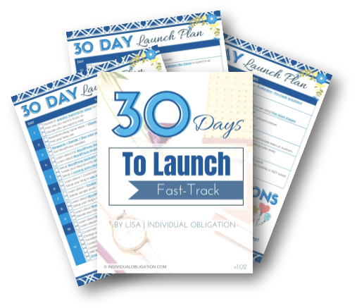 Layflat Printables 30 Days To Launch Fast Track