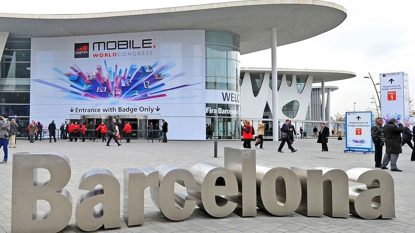Outside view of the building where MWC18 Barcelona meeting has occured