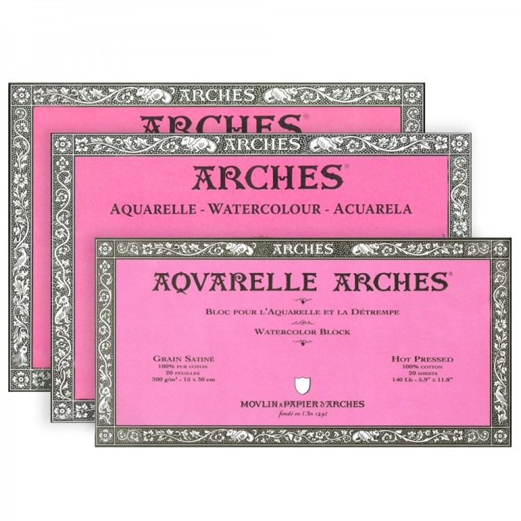 Arches Aquarelle Paper Watercolour Paper Blocks 300gsm