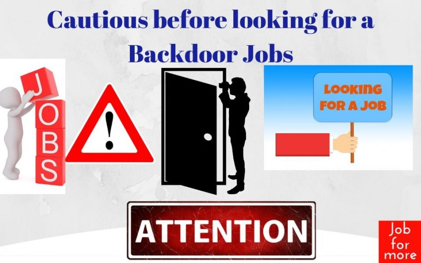 Cautious before looking for a Backdoor Jobs 1