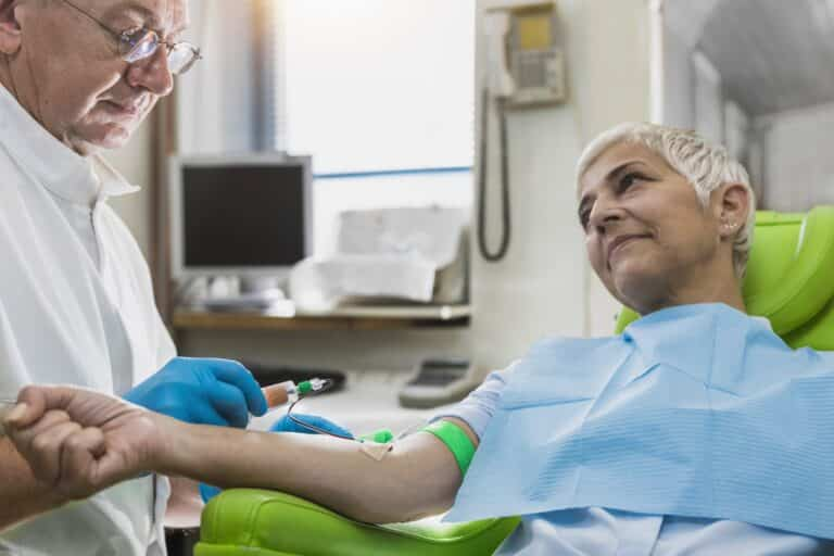 Drawing Blood For Platelet Rich Plasma Cosmetics Treatment