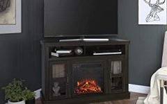 """Ameriwood Home Rhea Tv Stands for Tvs Up to 70"""" in Black Oak"""