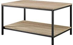 Emmett Sonoma Tv Stands with Coffee Table with Metal Frame