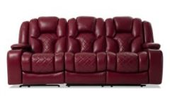Panther Fire Leather Dual Power Reclining Sofas