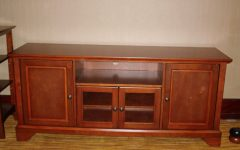Wood Tv Stand with Glass
