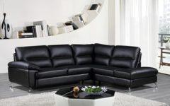 Wynne Contemporary Sectional Sofas Black