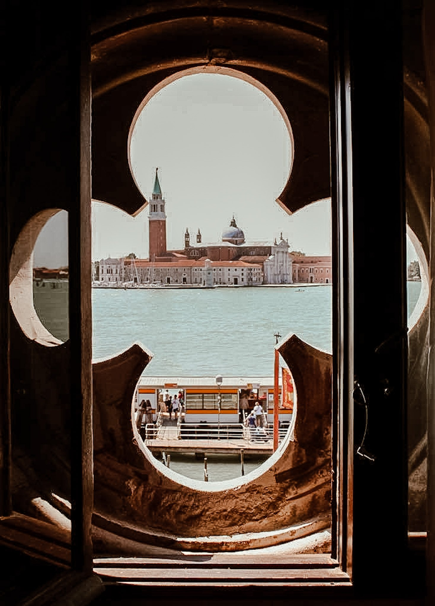 View of Venice Italy from Hotel Danieli