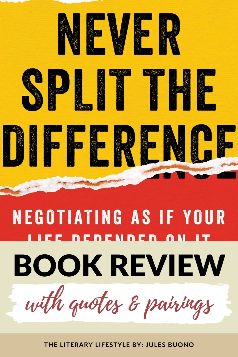 Book Review: Never Split the Difference
