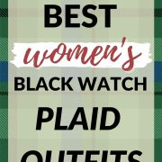 best women's black watch plaid outfits