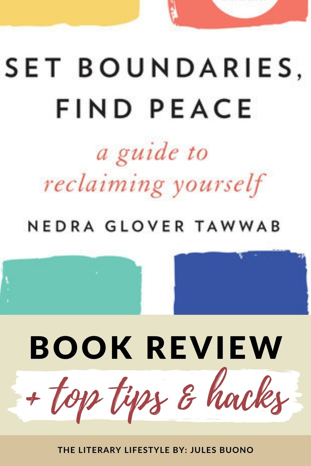 Book review of set boundaries find peace