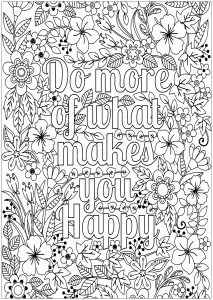 Adult Coloring Pages Quotes 2