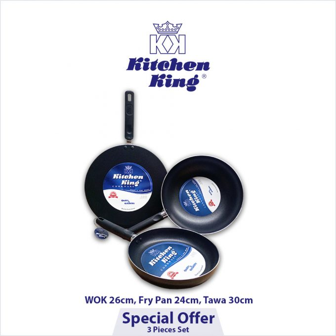 Kitchen King Special Offer 3 Pieces Set Non Stick