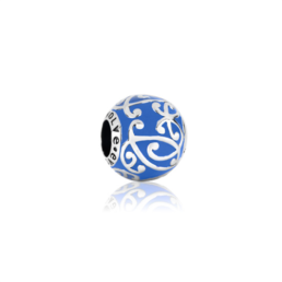 Evolve Sterling Silver and Enamel Oceans Waves (powerful) Charm_0