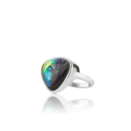 Evolve Sterling Silver Statement Paua Ring_0